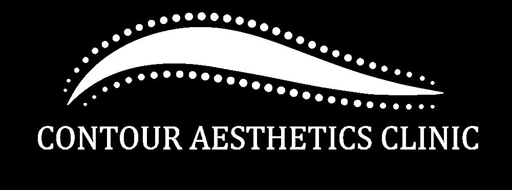contour aesthetics white logo
