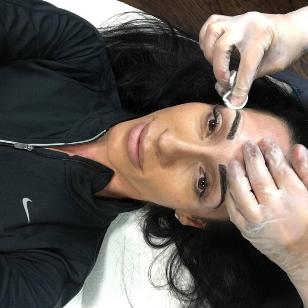 Microblading Session in clearwater and tampa fl
